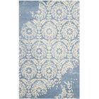 Fernville Hand-Tufted Light Blue/Ivory Area Rug Rug Size: Rectangle 6' x 9'