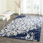 Fernville Hand-Tufted Navy / Ivory Area Rug Rug Size: Rectangle 8' x 10'