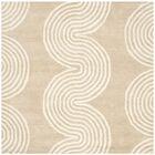 Petal Hand-Tufted Beige/Ivory Area Rug Rug Size: Square 5'