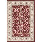 Driffield Hand-Hooked Red / Ivory Area Rug Rug Size: Rectangle 8' x 10'