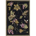 Olson Hand-Hooked Black Area Rug Rug Size: Runner 2'6