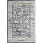Driffield Dark Gray/Cream Area Rug Rug Size: Rectangle 9' x 12'