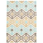 Sprottle Hand-Tufted Beige/Blue/Green Area Rug Rug Size: Rectangle 5' x 7'