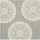 Harger Hand-Tufted Wool Gray/Ivory Area Rug Rug Size: Square 5'
