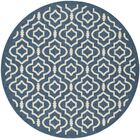 Octavius Navy/Beige Indoor/Outdoor Area Rug Rug Size: Round 5'3