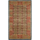 Froehlich Light Blue/Red Area Rug Rug Size: Rectangle 5'1