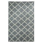 Cambridgeshire Fancy Trellis Gray/White Area Rug Rug Size: 8' x 10'