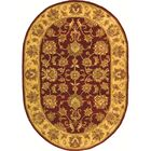 Cranmore Hand-Tufted Wool Red/Gold  Area Rug Rug Size: Oval 4'6