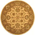 Cranmore Ivory/Brown Area Rug Rug Size: Round 8'