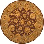 Cranmore Gold & Brown Area Rug Rug Size: Round 8'