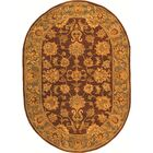 Cranmore Gold & Brown Area Rug Rug Size: Oval 4'6