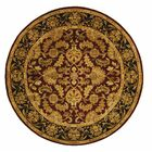 Cranmore Red Area Rug Rug Size: Round 8'