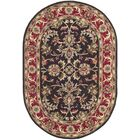 Cranmore Chocolate/Red Area Rug Rug Size: Oval 7'6