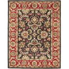 Cranmore Chocolate/Red Area Rug Rug Size: Rectangle 6' x 9'