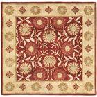 Cranmore Red/Beige Floral Area Rug Rug Size: Square 6'