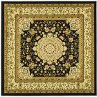 Ottis Black/Ivory Area Rug Rug Size: Square 6'