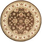 Ottis Brown/Ivory Persian Area Rug Rug Size: Round 5'3