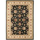 Ottis Black/Ivory Persian Area Rug Rug Size: Rectangle 4' x 6'