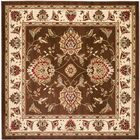 Ottis Brown/Ivory Area Rug Rug Size: Square 6'7