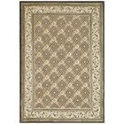 Patrick Ivory/Dark Brown Rug Rug Size: Rectangle 8' x 11'2