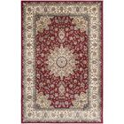 Petronella Red/Ivory Area Rug Rug Size: Rectangle 5'3