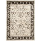 Petronella Ivory/Black Area Rug Rug Size: Rectangle 8' x 11'2