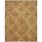 Dunbar Hand-Woven Wool Gold/Beige Area Rug Rug Size: Rectangle 7'6
