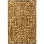 Dunbar Hand-Woven Wool Gold/Beige Area Rug Rug Size: Rectangle 4' x 6'