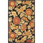 Bradwood Hand-Woven Wool Black Area Rug Rug Size: Rectangle 8' x 10'