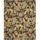 Bradwood Black Floral Area Rug Rug Size: Rectangle 8' x 10'
