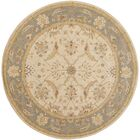 Florence Hand-Woven Putty Area Rug Rug Size: Round 8'