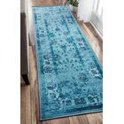 Myrtle Turquoise Area Rug Rug Size: Runner 2' 6