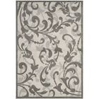 Maritza Ivory/Gray Indoor/Outdoor Area Rug Rug Size: Rectangle 4' x 6'