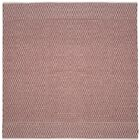 Parthena Hand-Woven Red Area Rug Rug Size: Rectangle 6' x 9'