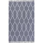 Larksville Hand-Woven Gray Outdoor Area Rug Rug Size: Rectangle 3'6