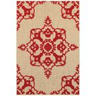 Winchcombe Sand/Red Outdoor Area Rug Rug Size: Rectangle 5'3