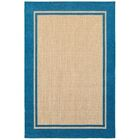 Binghamton Sand/Blue Outdoor Area Rug Rug Size: Rectangle 6'7