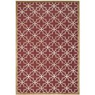 Star Gradient Red/Ivory Area Rug Rug Size: Rectangle 4' x 5'7