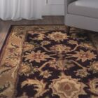 Bromley Dark Plum/Gold Rug Rug Size: Rectangle 6' x 9'