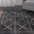 Chaffee Black/Gray Area Rug Rug Size: Runner 2'1 x 7'1