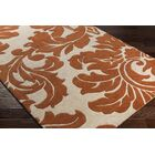 Rubin Hand-Woven Rust/Neutral Area Rug Rug Size: Rectangle 5' x 8'