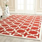 Brunswick Wool Red/Beige Area Rug Rug Size: Rectangle 9' x 12'