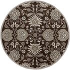 McLoon Oyster Gray Area Rug Rug Size: Round 8'