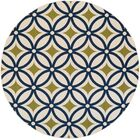 Cowell Navy Indoor/Outdoor Area Rug Rug Size: Round 7'10