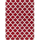 Windsor Cherry/Light Gray Geometric Area Rug Rug Size: Rectangle 8' x 11'