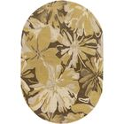 Millwood Gold/Chocolate Floral Area Rug Rug Size: Slice 2' x 4'