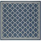 Critchlow Navy Outdoor Area Rug Rug Size: Square 6'7