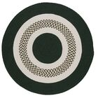 Germain Dark Green/Beige Area Rug Rug Size: Round 10'
