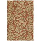 Glenn Copper Red Floral  Indoor/Outdoor Area Rug Rug Size: Rectangle 5' x 7'6