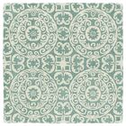 Corine Hand-Tufted Mint / Ivory Area Rug Rug Size: Square 3'9